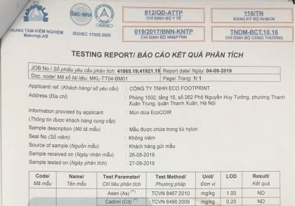 Báo Cáo Kết Quả Phân Tích Mùn Dừa EcoCOIR